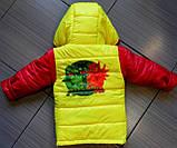 Демисезонная детская куртка ГЕРОИ В МАСКАХ с отстегными рукавами, фото 2