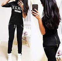 """Модный костюм женский """"Vogue"""" - С, М, Л, ХЛ, черный, бордовый, пудра, темно-синий, серый, графит"""