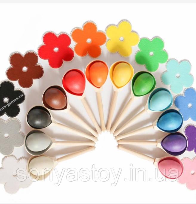 """Игра """"Яички и ложки"""", для изучения цветов, сортировка, 1.5+"""