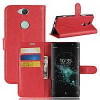 Чехол-книжка Litchie Wallet для Sony XA2 Plus H4413 Красный