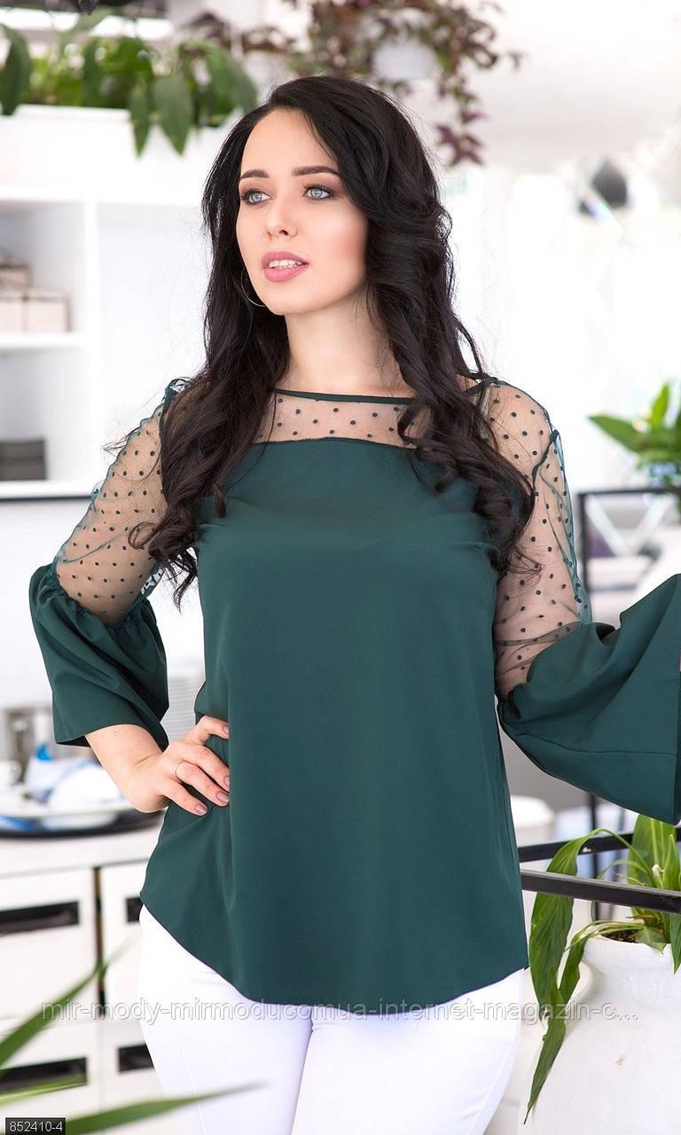 Батальная  блуза 852410-4 (6 цветов ) с 50 по 56 размер(мш)