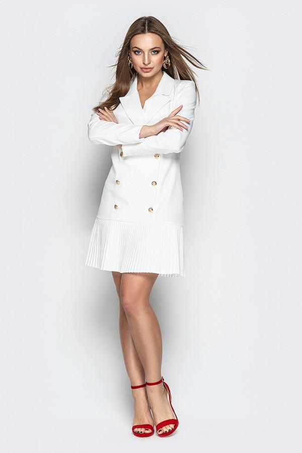 Платье пиджак с юбкой плиссе 2 цвета
