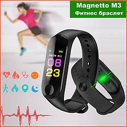 Умный фитнес браслет UWatch Magnetto M3 / в стиле Xiaomi Band 3 / Smart Watch / смарт часы Lefun, чёрный