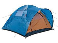 Туристическая палатка Coleman 1014 3-х местная. 2-х слойная. С навесом, фото 3