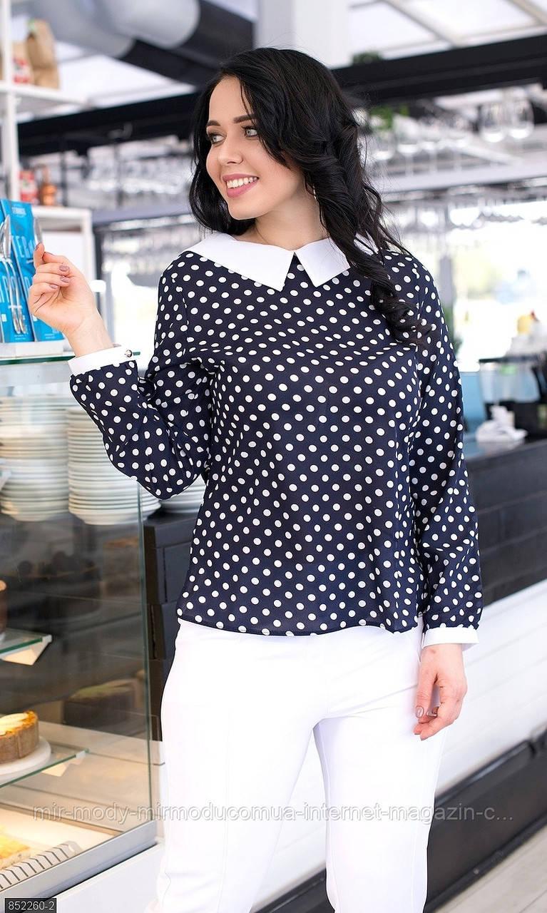 Батальная  блуза 852260-2   ( 2 цвета ) с 50 по 56 размер(мш)