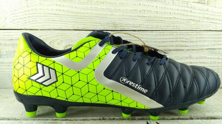 Бутсы футбольные сине - зеленые Restime DMB197051, фото 2