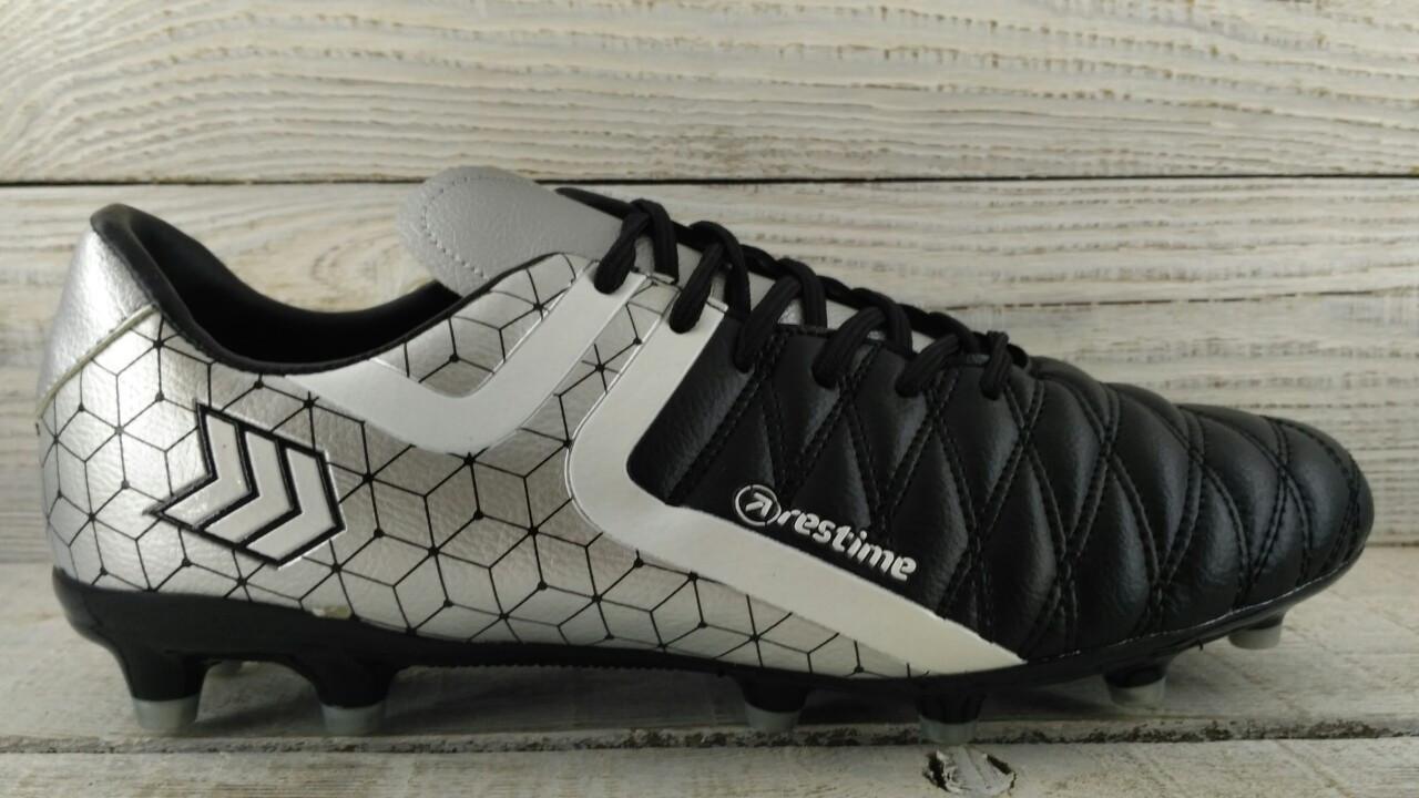 Бутсы футбольные серебро Restime DMB197053