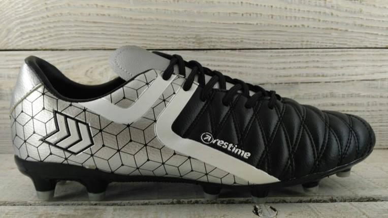 Бутсы футбольные серебро Restime DMB197053, фото 2