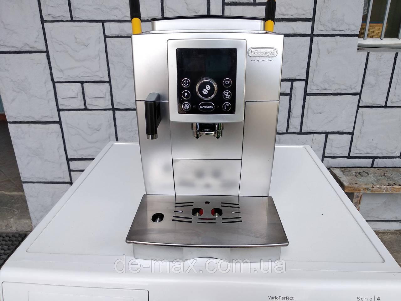 Кофеварка кофемашина Делонги Delonghi ECAM 23.450 S серебристая
