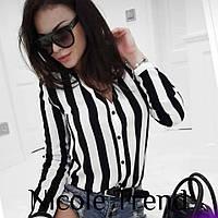 Стильная женская блузка в полоску