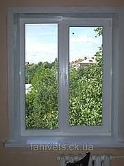 """Окна типа """"Эконом"""" из профиля WDS 400, с двукамерным энергосберегающим стеклопакетом,размеры (1300х1400)"""