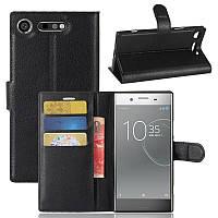 Чехол-книжка Litchie Wallet для Sony Xperia XZ1 G8342 Черный