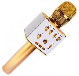 Беспроводной микрофон-караоке колонка WSTER L16 Золотой