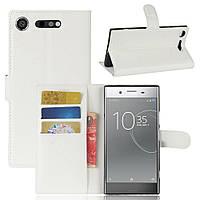 Чехол-книжка Litchie Wallet для Sony Xperia XZ1 G8342 Белый