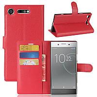Чехол-книжка Litchie Wallet для Sony Xperia XZ1 G8342 Красный