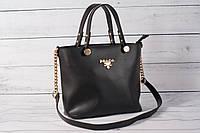 Женская сумка Prаdа (Прада) черного цвета