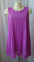 Платье женское плиссированное лето мини туника бренд Miso р.46-48, фото 1