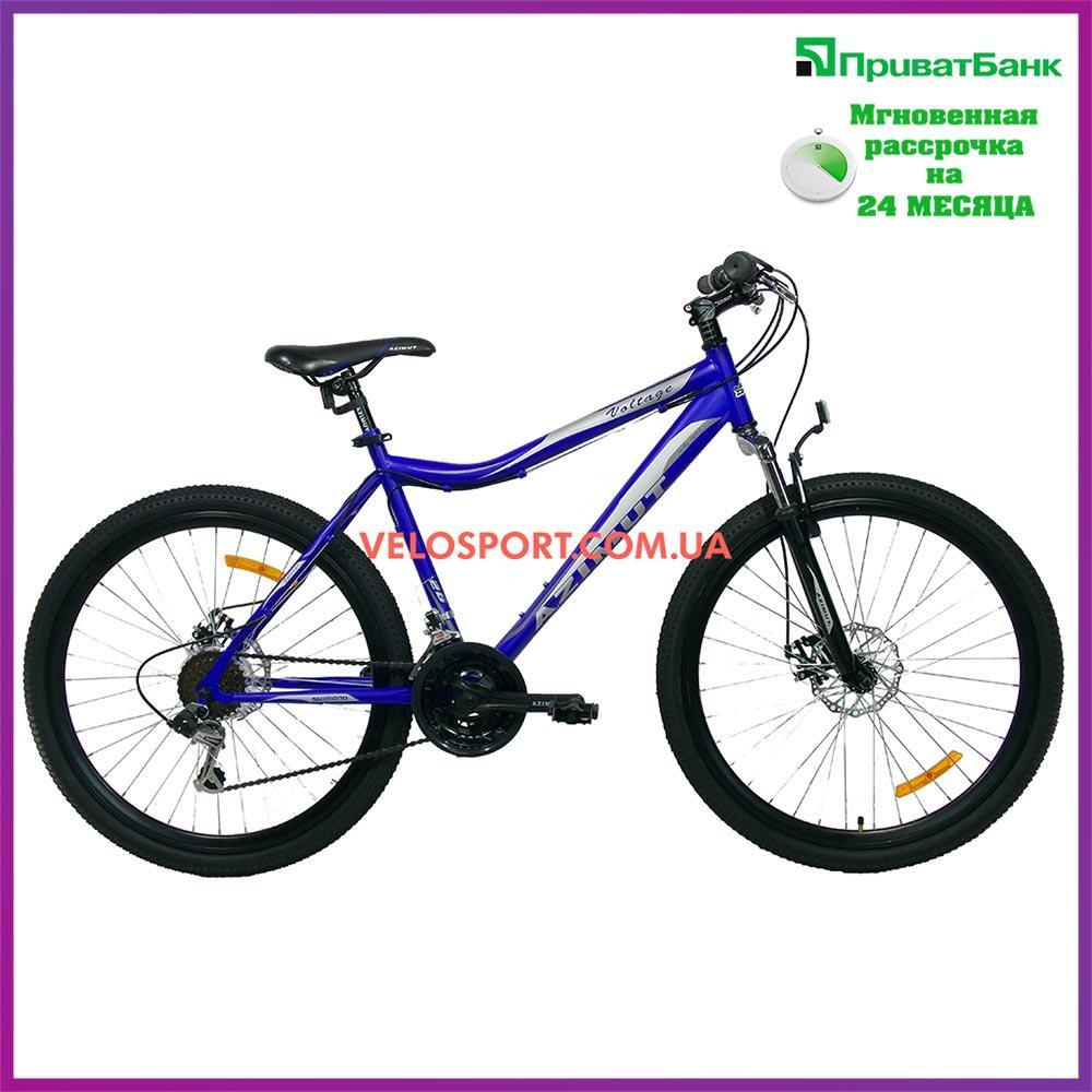 Горный велосипед Azimut Voltage 26 D+ сине-черный