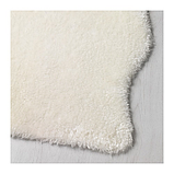 IKEA TOFTLUND Килим, білий, 55x85 см, фото 2