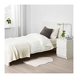 IKEA TOFTLUND Килим, білий, 55x85 см, фото 4