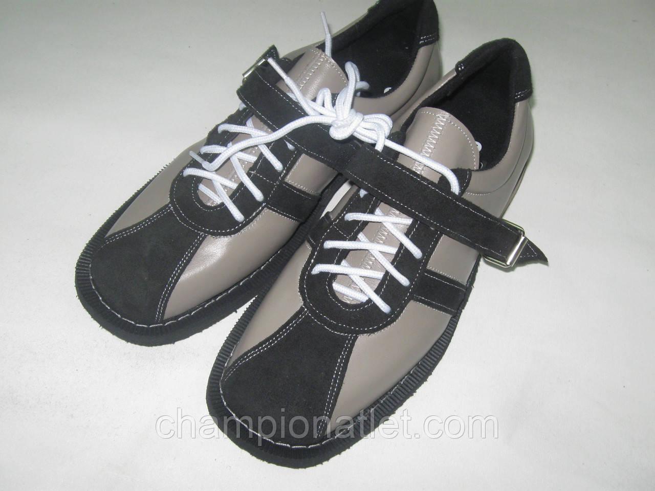 Штангетки на каблуке, кожа