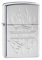 Зажигалка Zippo Harley Davidson Tatoo Armour High Polished Chrome