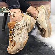 Женские кроссовки в стиле Nike M2K Tekno Linen & Wheat & Ale Brown