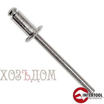 Заклепки вытяжные алюминиевые InterTool (Заклепка 4.8-10 мм (50 шт) ), фото 2