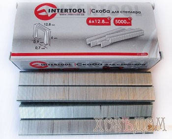 Скобы для пневмостеплера InterTool (Скоба для пневмостеплера  14 мм ( 5000 шт\уп )), фото 2