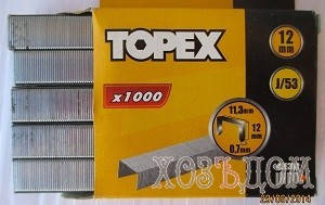 Скобы для степлера каленные Topex (Скоба каленная ( 1000 шт/уп ) 12 мм), фото 2