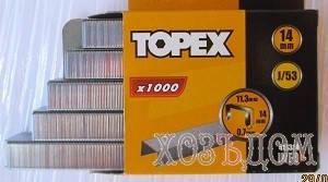 Скобы для степлера каленные Topex (Скоба каленная ( 1000 шт/уп ) 14 мм), фото 2