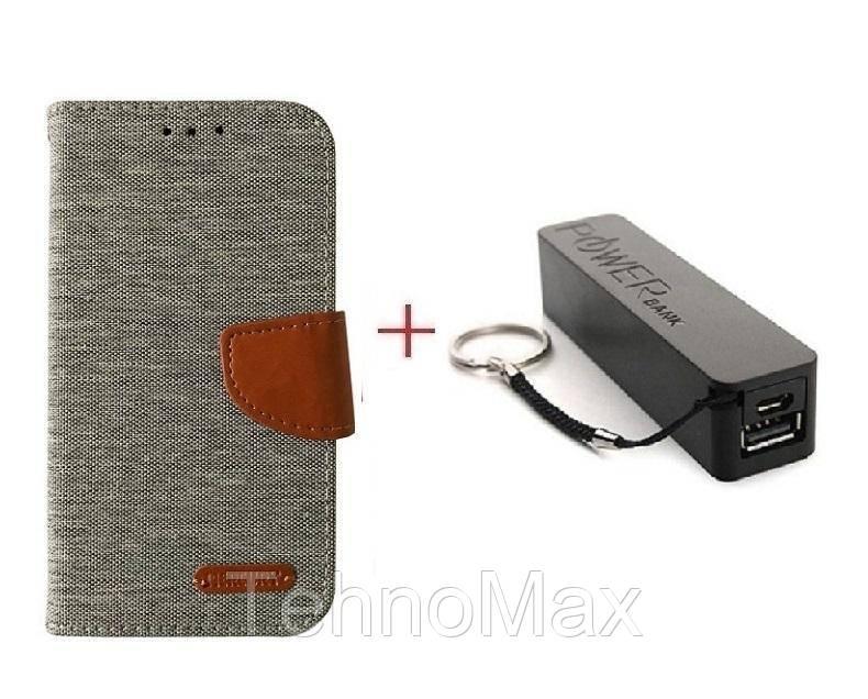 Чехол книжка Goospery для Alcatel FIERCE XL + Внешний аккумулятор (Powerbank) 2600 mAh (в комплекте). Подарок!!!