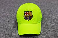 Кепка ФК Барселона салатовая