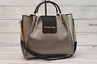 Женская сумка Mi-hael Kor$ (в стиле Майкл Корс), черный графит
