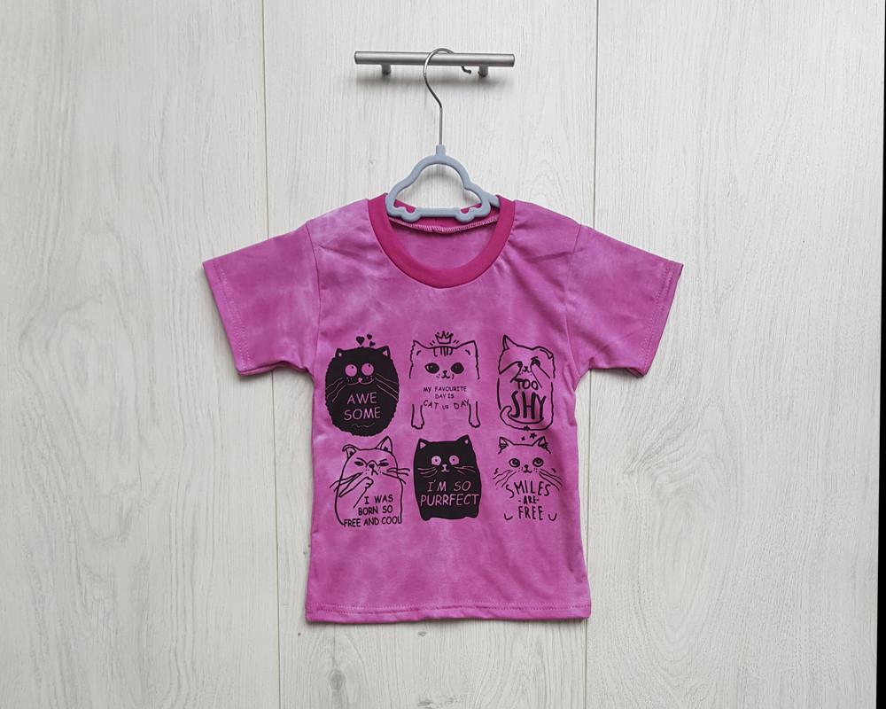 Трикотажная футболка для девочки р.