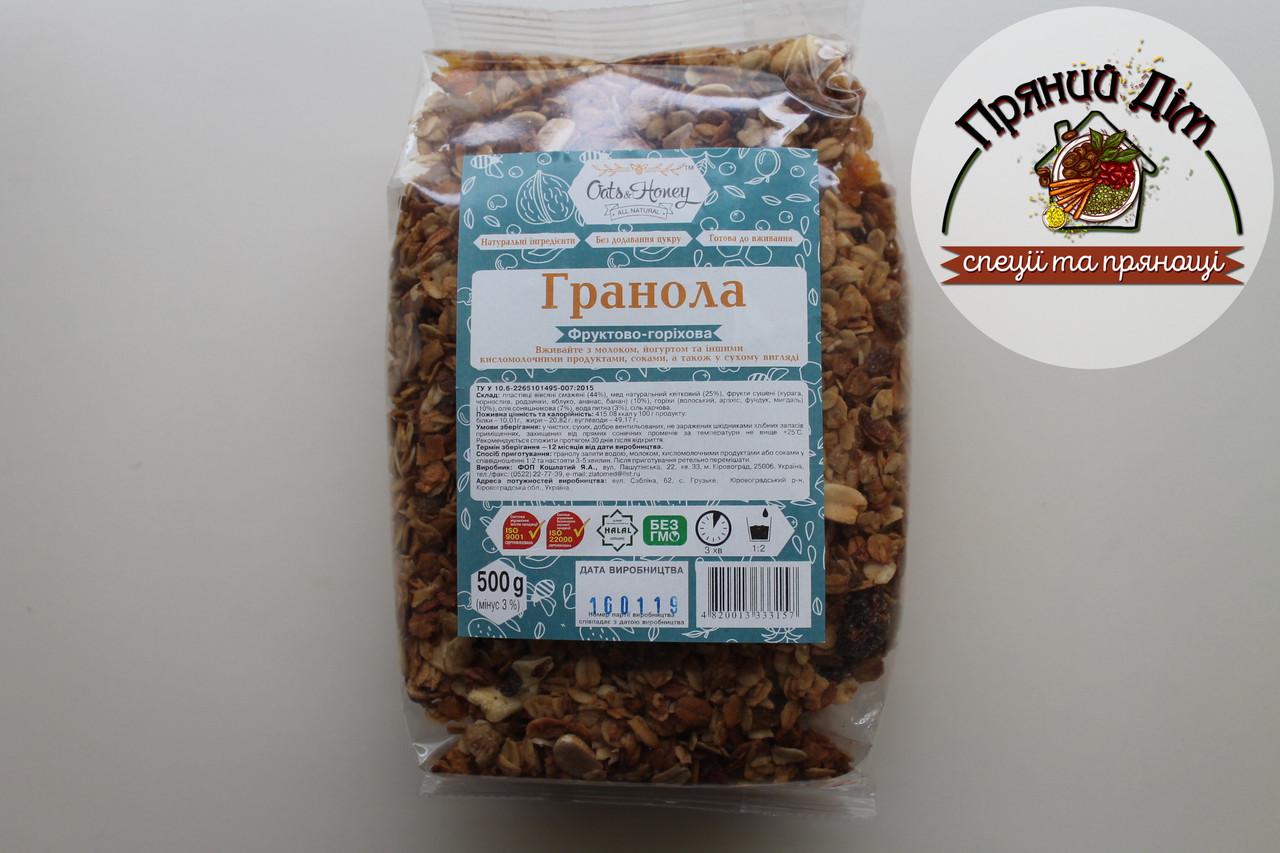 Гранола Фруктово-Горіхова 0.5кг