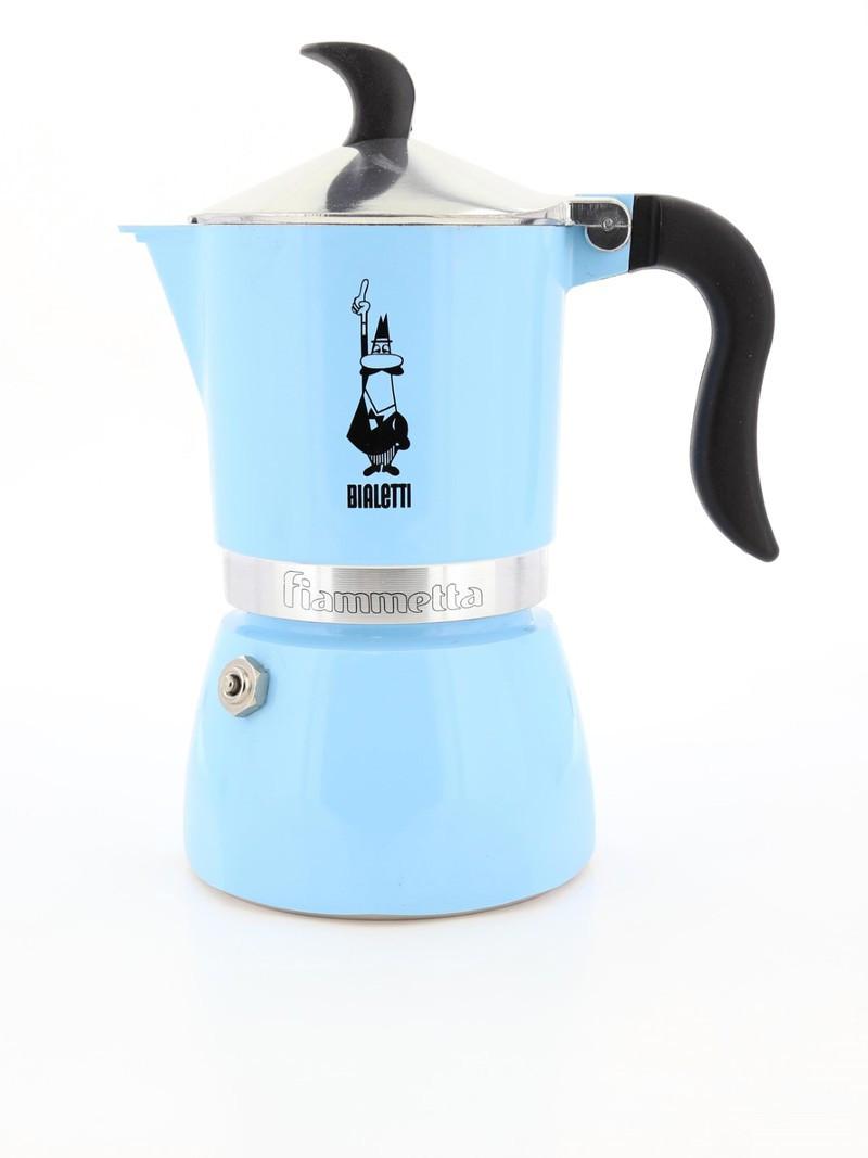 Гейзерная кофеварка Bialetti Fiammetta на 3 чашки (светло-голубой), Италия