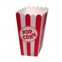 Коробка для попкорна красно-белая, 0,7л
