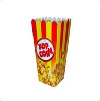 Коробка для попкорна желто-красная, 1,5л