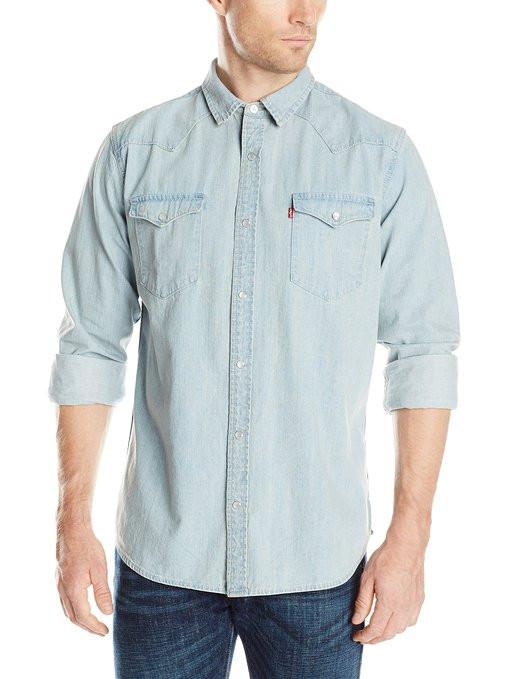 Рубашка джинсовая Levi's Men's Standard Barstow Denim Western
