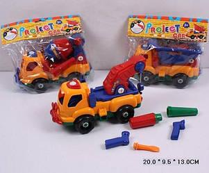 """Конструктор дитячий 6789-1 (120шт/2) """"Машина"""" 3 види, з викруткою, в пакеті 20*9,5*13 см"""