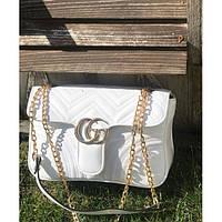 Женская сумочка Gucci (Гуччи), белый цвет