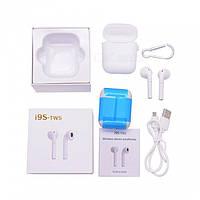 Наушники i9S-Tws Plus White. Маленькие беспроводные наушники Bluetooth гарнитура точная копия Apple AirPods