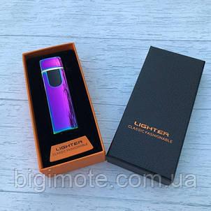 Электроимпульсная зажигалка USB Lighter 752 в подарочной упаковке, фото 2