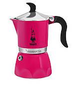 Гейзерная кофеварка Bialetti Fiammetta на 3 чашки (розовая), Италия