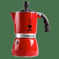 Гейзерная кофеварка Bialetti Fiammetta на 3 чашки (красная), Италия