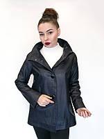 Куртка кожаная Oscar Fur 421 Темно-синий, фото 1