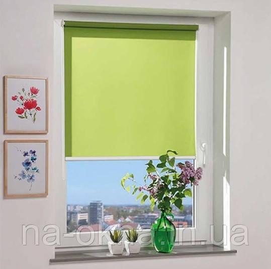 """Рулонные шторы, ткань """" Berlin (A 800)"""" , Besta UNI - створка (П-образные направляющие), (1-часть - 9 цветов)"""