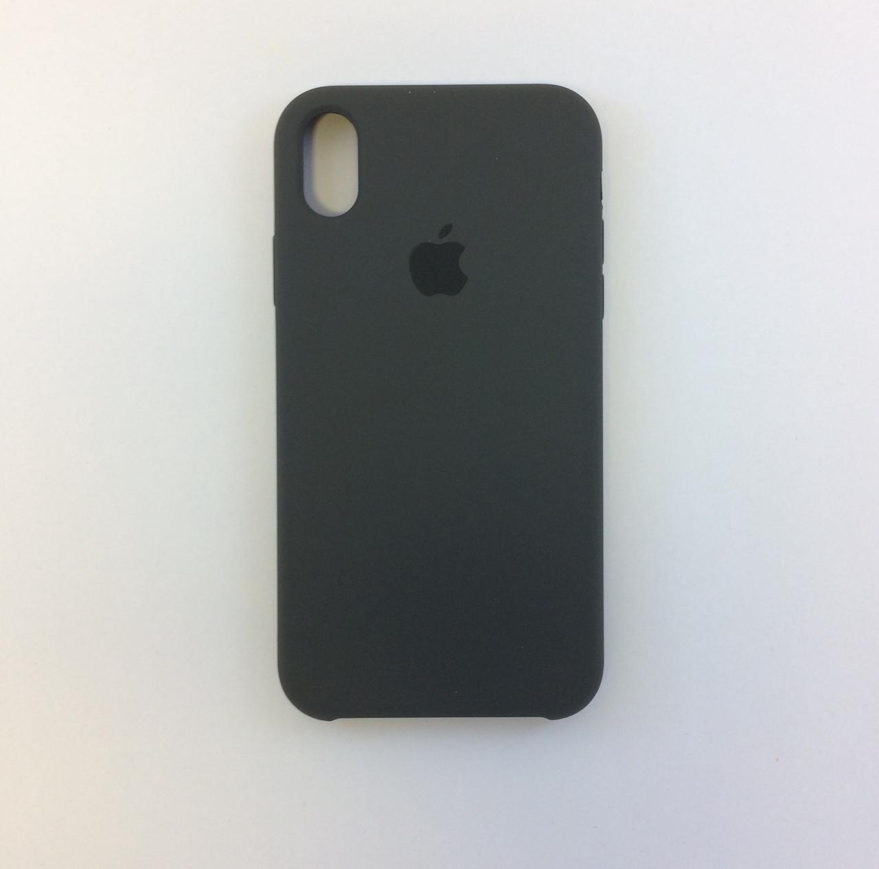 Силиконовый чехол для iPhone X, - «какао» - copy original
