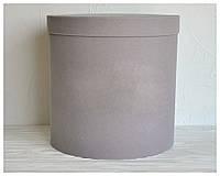Бархатная круглая коробка для цветов  d=31 h=30 см , фото 1